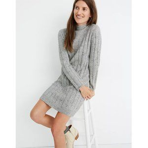 NWT Madewell Donegal Mockneck Sweater Dress Grey S